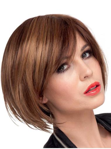 Comfortable Brown Synthetic Straight Short Wigs