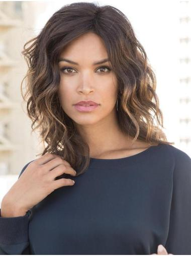 "Layered 14"" Chin Length Wavy Popular Medium Wigs"