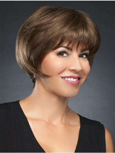 "6"" Cropped Incredible Brown Straight Bob Wigs"