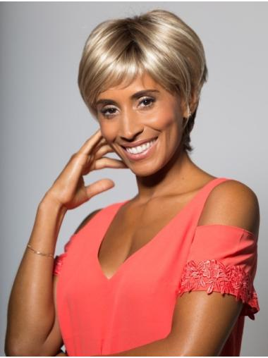 Best Short Straight Blonde Boycuts African American Wigs