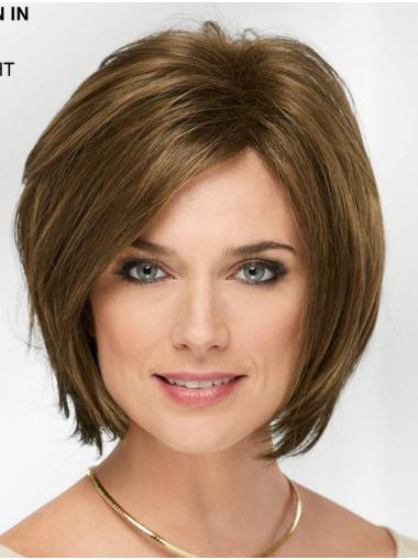 "10"" Chin Length Blonde Straight Cheap Bob Wigs"