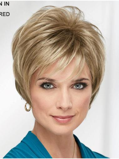 "Blonde 8"" Boycuts Fabulous Capless Synthetic Wigs"