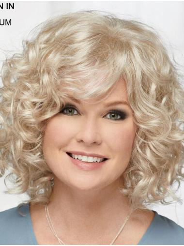 """Curly Platinum Blonde Chin Length 12"""" Hairstyles Classic Wigs"""