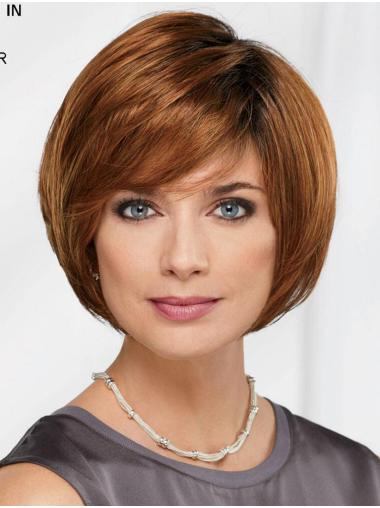 "10"" Chin Length Auburn Straight Comfortable Bob Wigs"