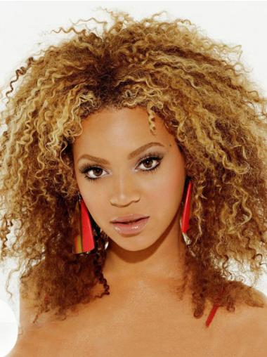 Beyonce 12 Inches Remy Hair African American Curly Lace Wig