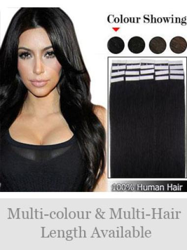 Cheap Black Straight Weft Extensions