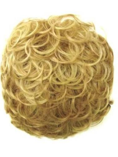 Beautiful Blonde Curly Short Clip in Hairpieces