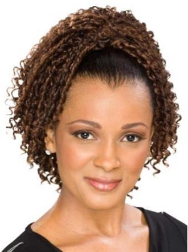 Pleasing Brown Curly Clip in Hairpieces