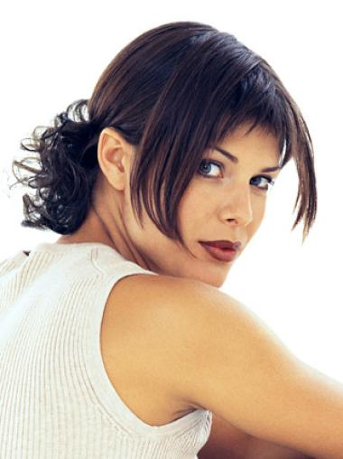 Impressive Brown Straight Short Clip in Hairpieces