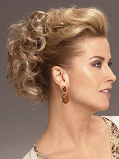 Preferential Blonde Curly Short Clip in Hairpieces