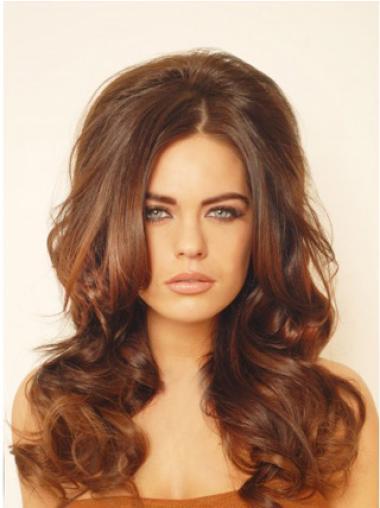 Stylish Auburn Wavy Hair Falls & Half