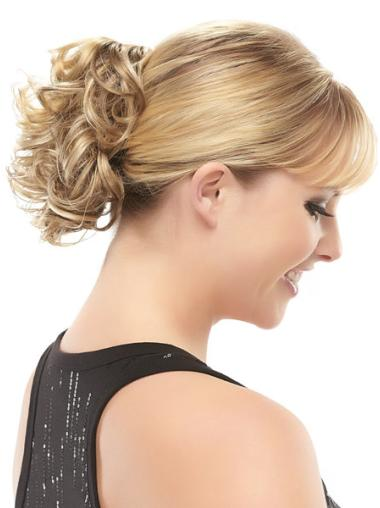 Graceful Blonde Synthetic Wraps/Buns
