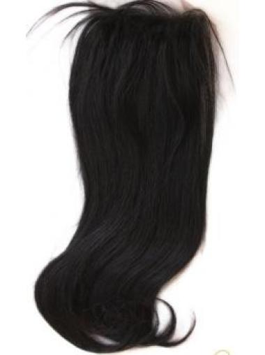 Shining Black Straight Long Lace Closures