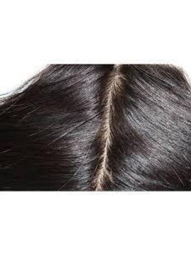 Convenient Black Wavy Long Lace Closures Extensions