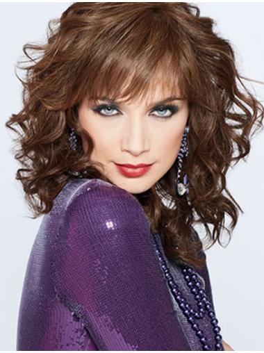 Preferential Auburn Curly Shoulder Length Classic Wigs