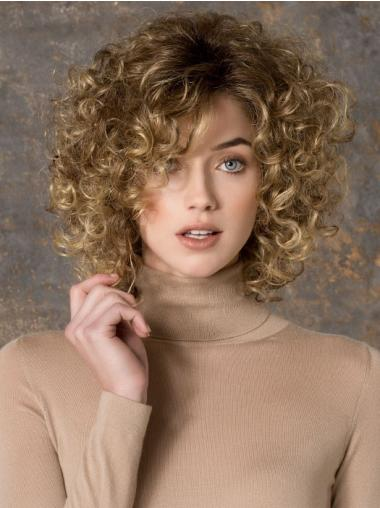 Blonde Layered Curly Braw Capless Wigs