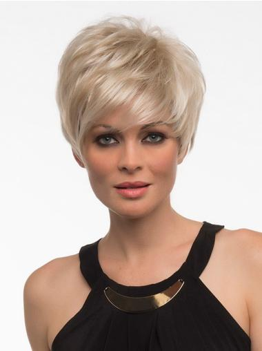 Style Blonde Straight Short Synthetic Wigs