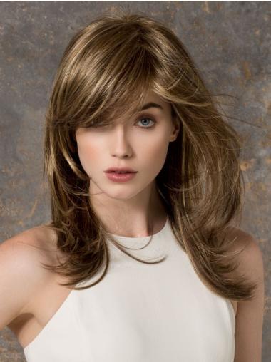 Monofilament Brown Straight Braw Long Wigs