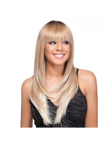 Discount Blonde Straight Long Celebrity Wigs