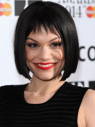 Lace Front Black Straight Affordable Jessie J Wigs