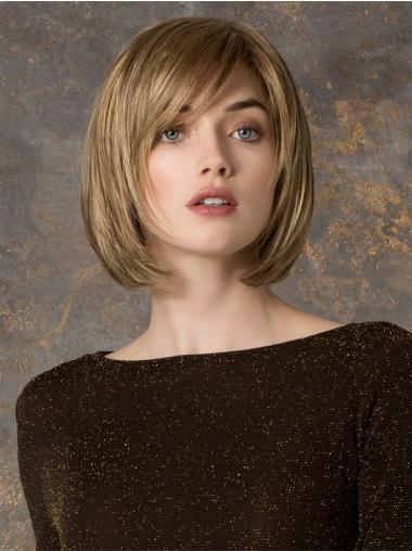 Cool Monofilament Blonde Straight Synthetic Medium Wigs
