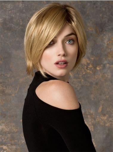 Monofilament Blonde Straight Traditiona Petite Wigs