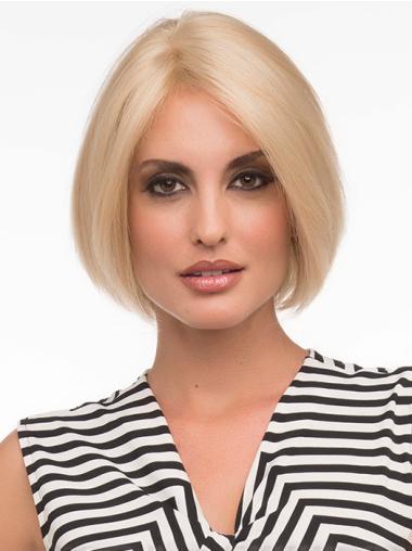 Monofilament Blonde Straight Style Bob Wigs