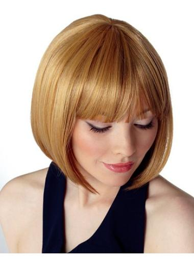 Ideal Blonde Straight Chin Length Bob Wigs