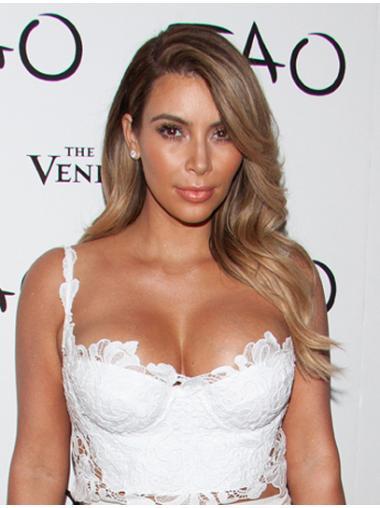 Fashionable Blonde Wavy Long Kim Kardashian Wigs