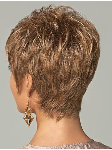Fashionable Brown Straight Synthetic Wigs