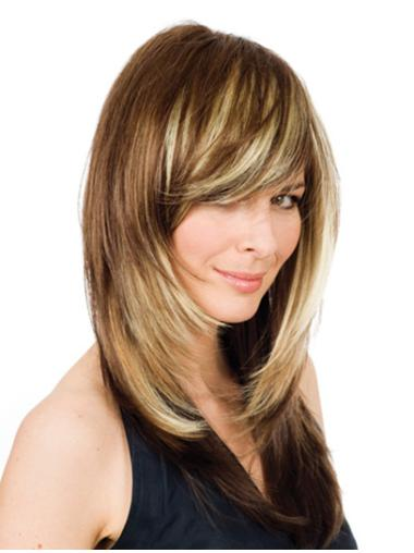 Lace Front Blonde Wavy Elegant Human Hair Lace Front Wigs