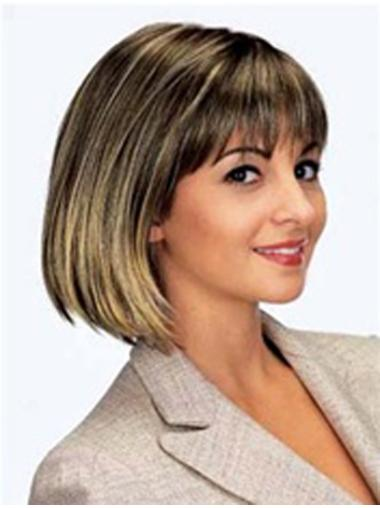 Monofilament Brown Straight Fabulous Lace Wigs