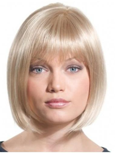 Cheapest Straight Chin Length Synthetic Wigs