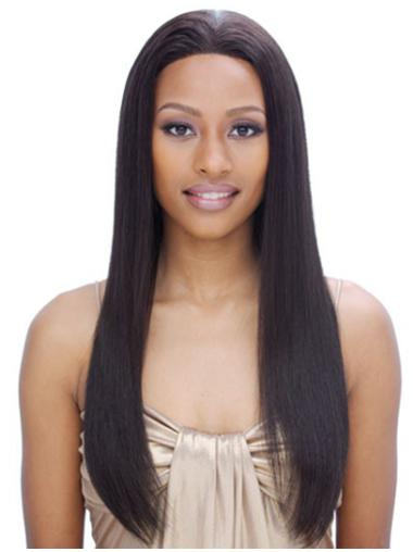 Cheapest Black Straight Long Remy Human Lace Wigs