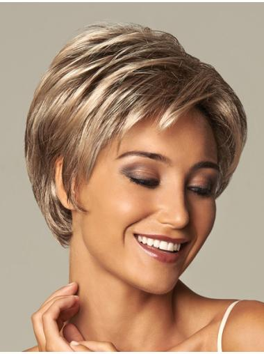 Discount Blonde Wavy Short Synthetic Wigs