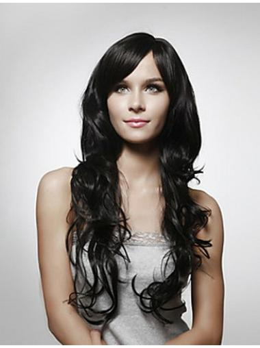 Fashionable Curly Black Long Wigs