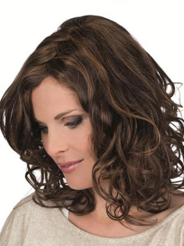 Monofilament Brown Curly Perfect Petite Wigs
