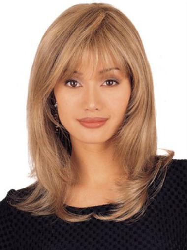 Lace Front Blonde Straight Stylish Remy Human Lace Wigs
