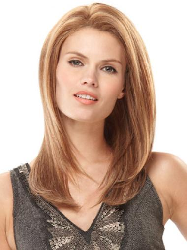 Monofilament Blonde Straight Glamorous Human Hair Lace Front Wigs