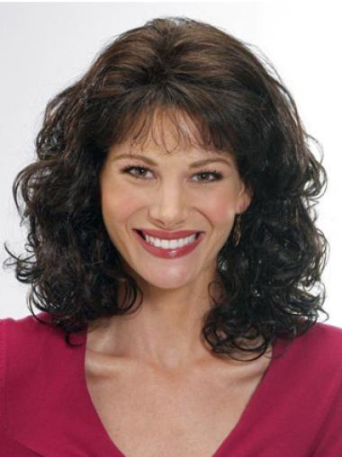 Gorgeous Brown Wavy Shoulder Length Classic Wigs