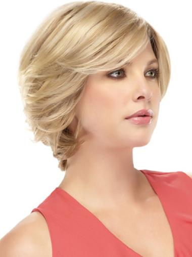 Lace Front Blonde Wavy Good Remy Human Lace Wigs