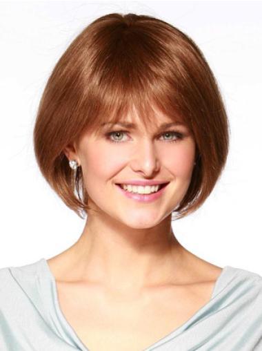 Monofilament Auburn Straight Cheap Wigs