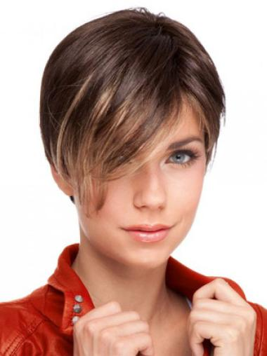 Lace Front Auburn Straight Hairstyles Celebrity Wigs