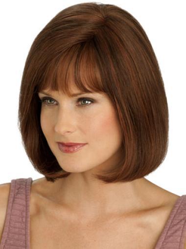 Monofilament Auburn Straight Cosy Full Lace Wigs
