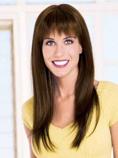 Glamorous Straight Brown Long Wigs