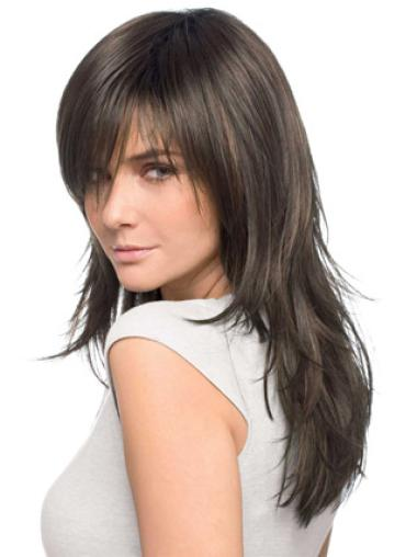 Traditiona Straight Brown Long Wigs