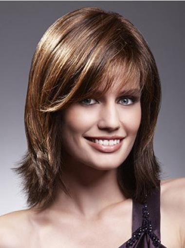 Lace Front Brown Straight Easeful Remy Human Lace Wigs