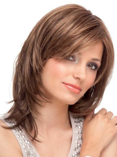 Lace Front Auburn Straight Glamorous Human Hair Wigs