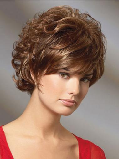 Style Auburn Curly Short Classic Wigs