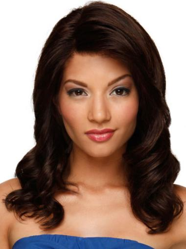 Lace Front Auburn Wavy Nice Human Hair Lace Front Wigs